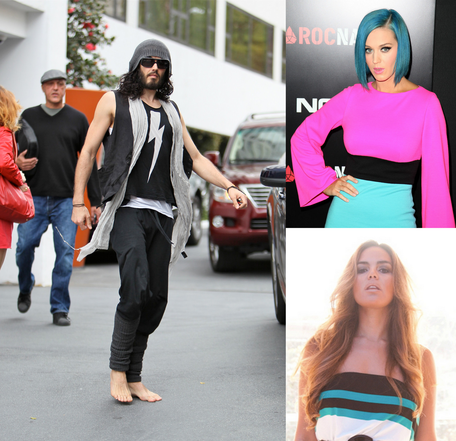 Russell Brand, Katy Perry and Oriela Medellin
