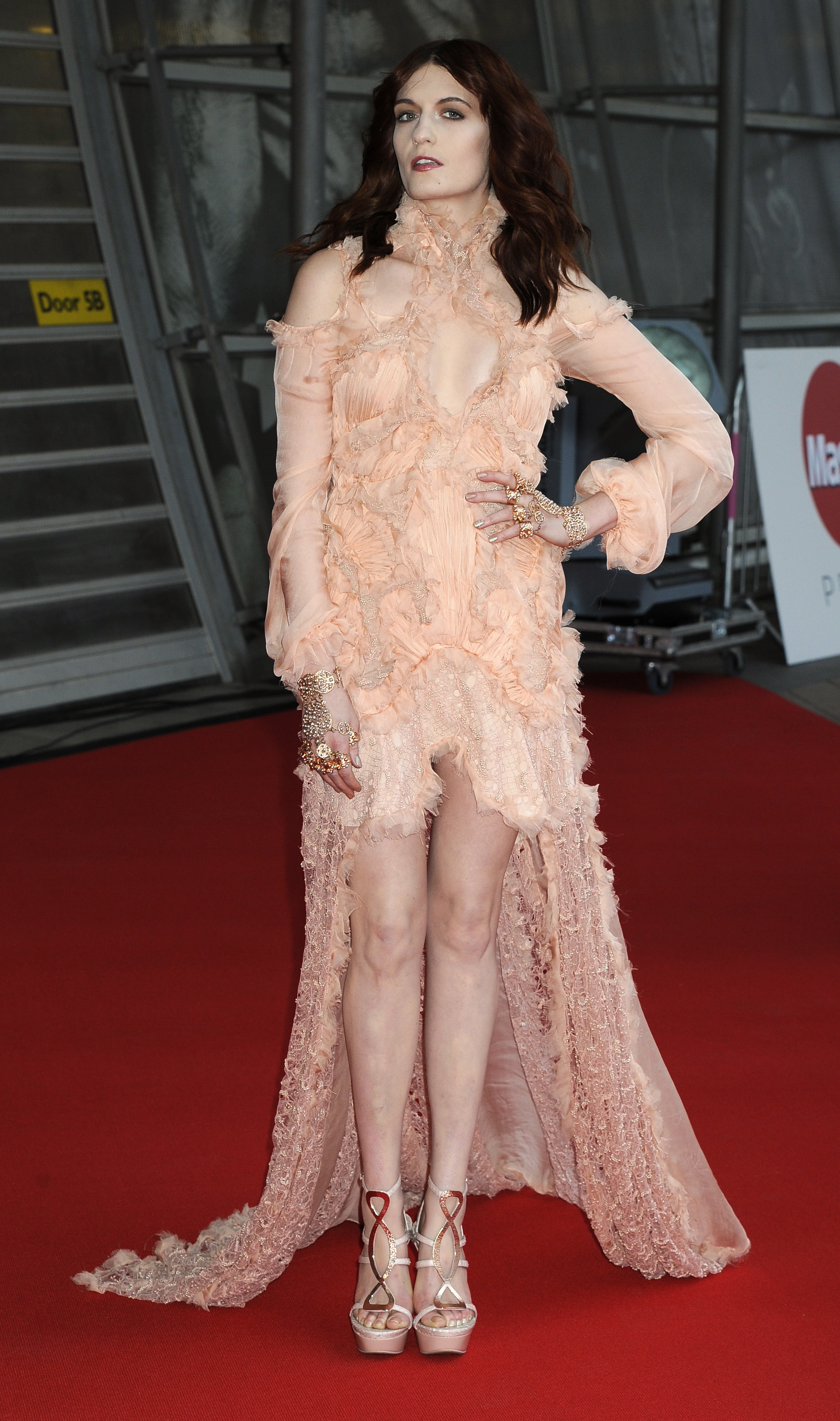 Florence Welch Fiona Apple rose dress