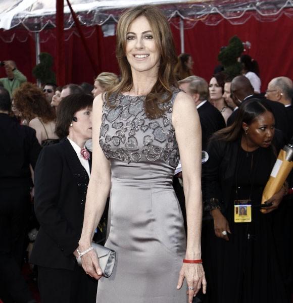 KAthryn Bigelow gray dress