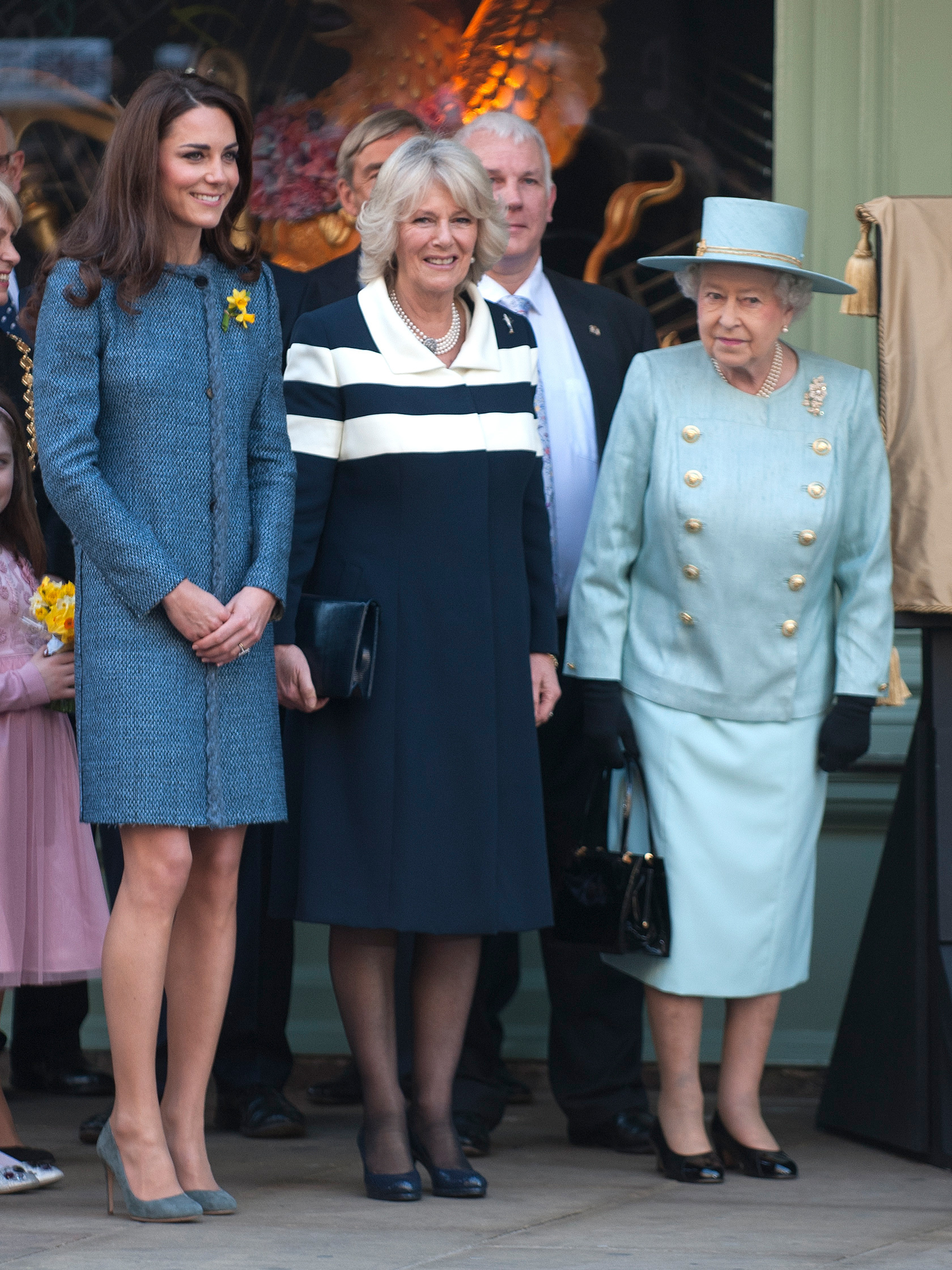 Duchess Kate Camilla and Queen Elizabeth II