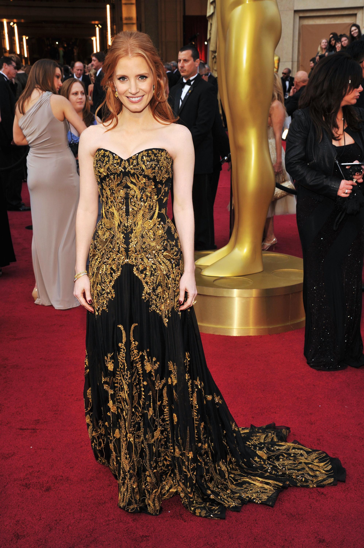 Jessica Chastain Oscar dress