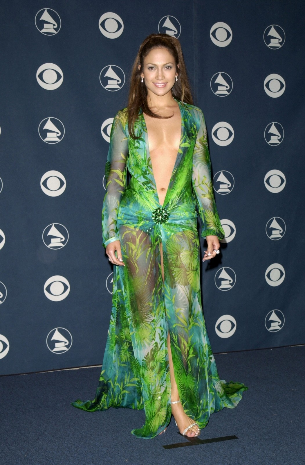 J.Lo Jennifer Lopez Grammy dress red carpet revealing