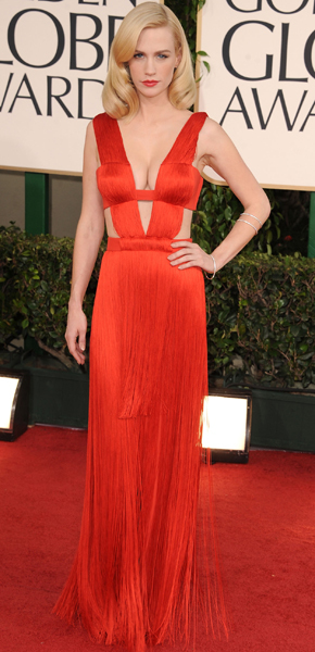 January Jones 2011 Golden Globes