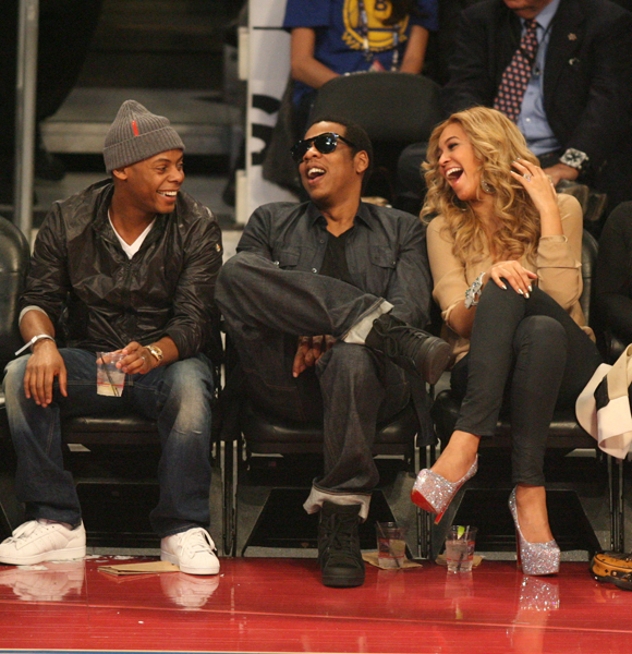 Beyonce Jay Z Courtside