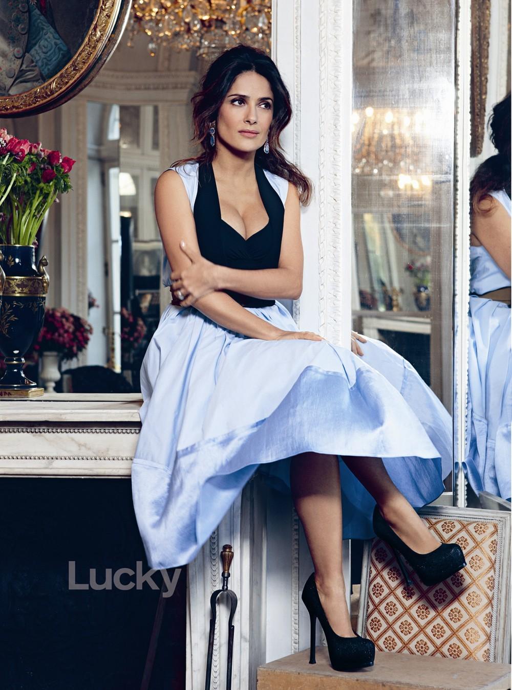 salma hayek lucky magazine
