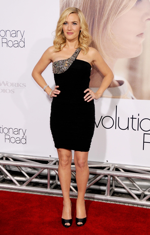 Kate Winslet Elizabeth Banks one shoulder minidress