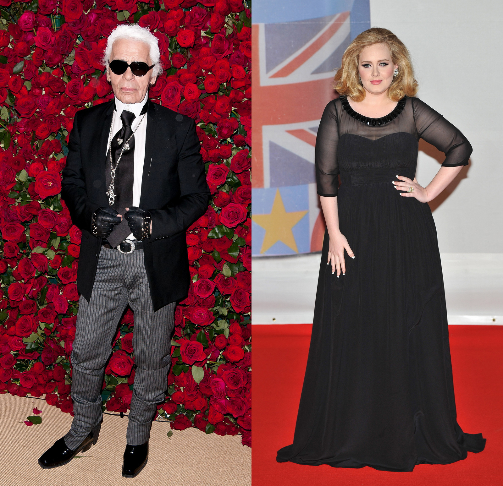 Adele and Karl Lagerfeld