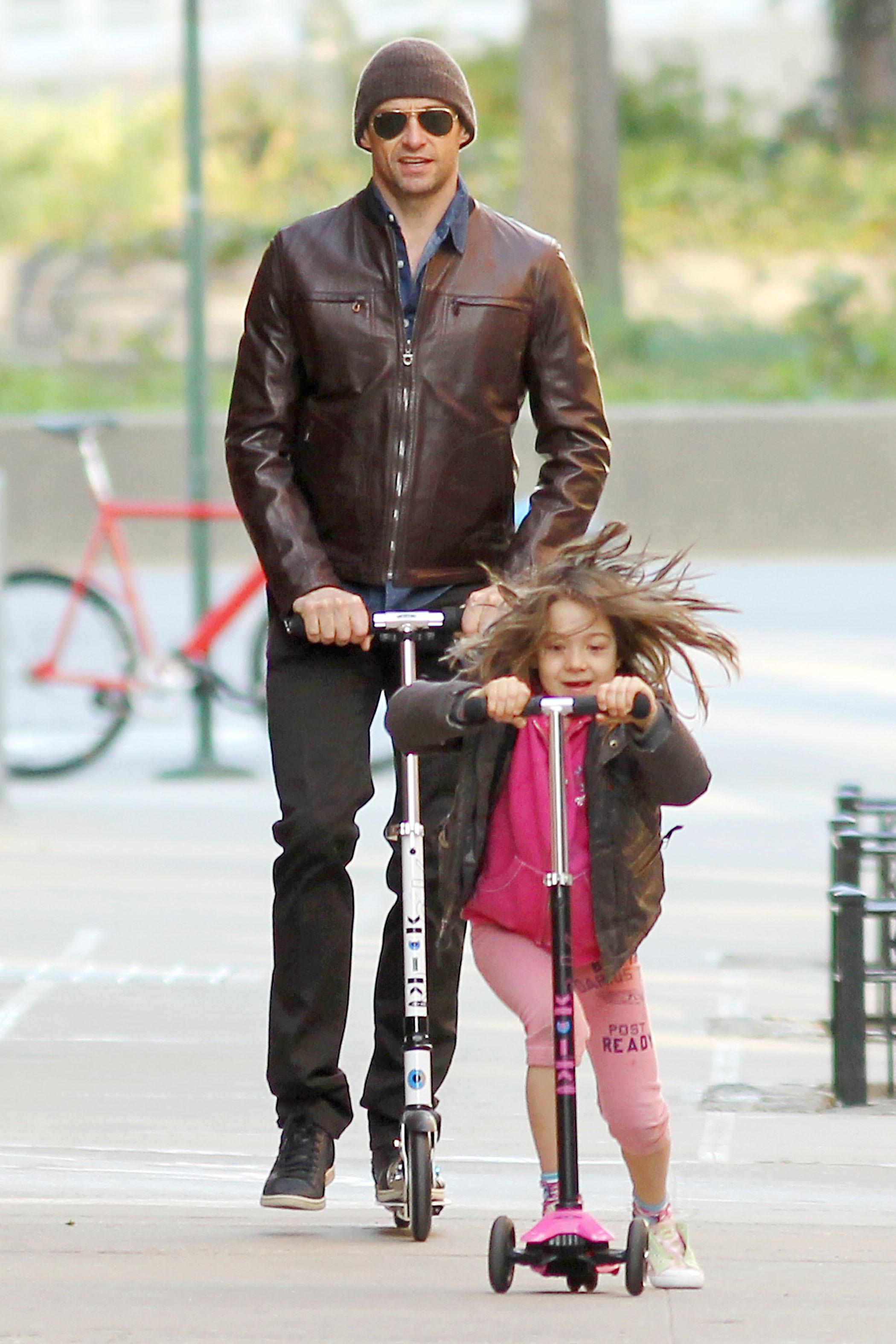 Hugh Jackman scooter