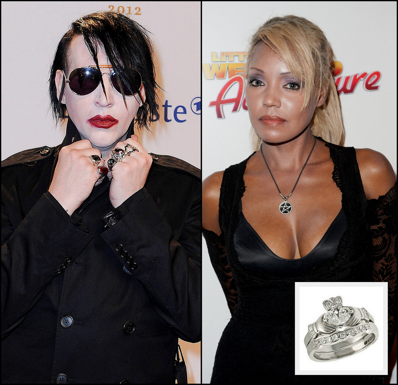 Marilyn Manson and Seraphim Ward