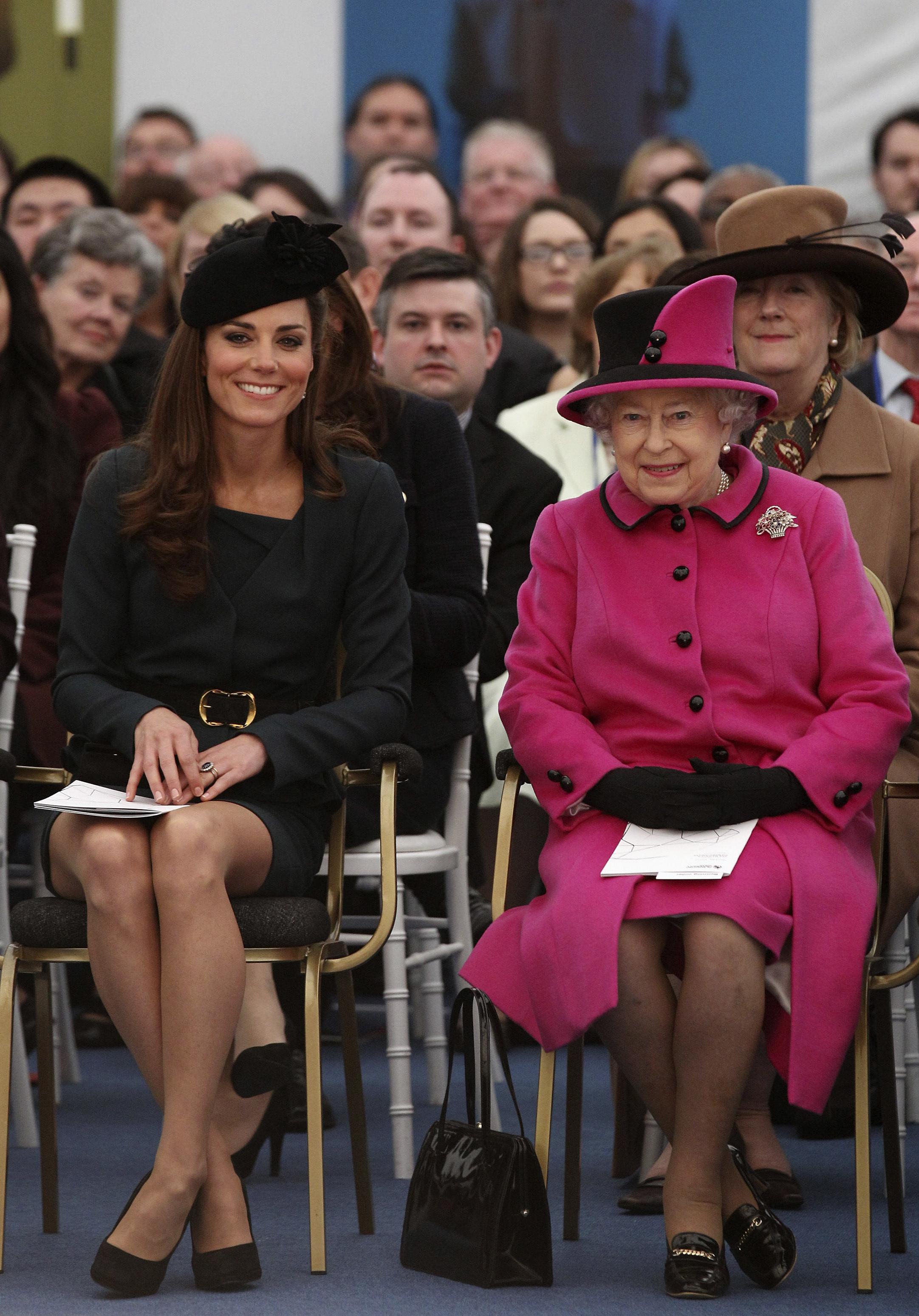 Duchess Kate Queen Elizabeth II