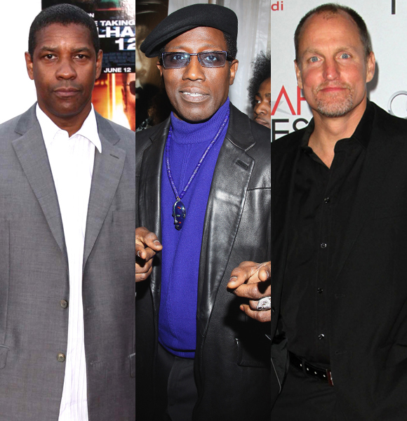Denzel Washington and Woody Harrelson Wesley Snipes