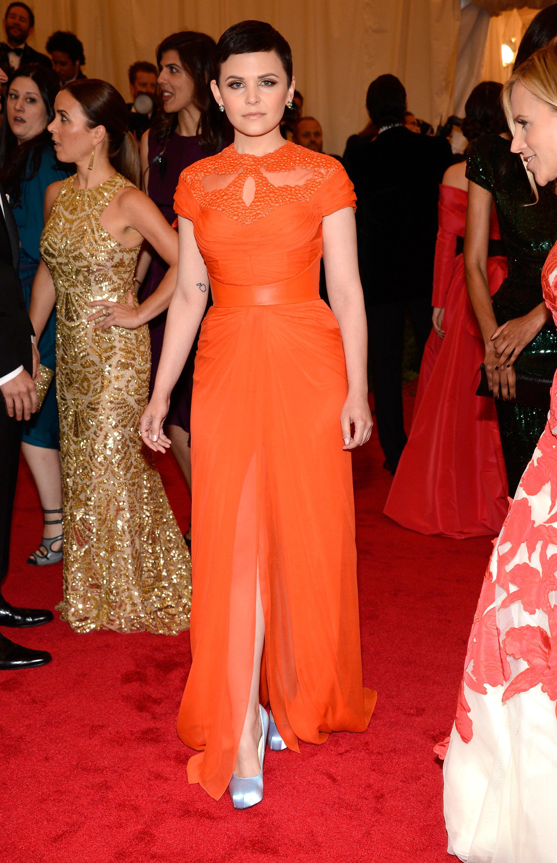 Ginnifer Goodwin orange gown