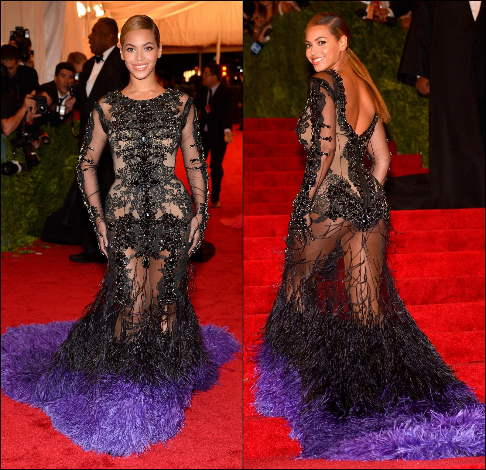 Beyonce 2012 Met gala Givenchy haute couture by Riccardo Tisci