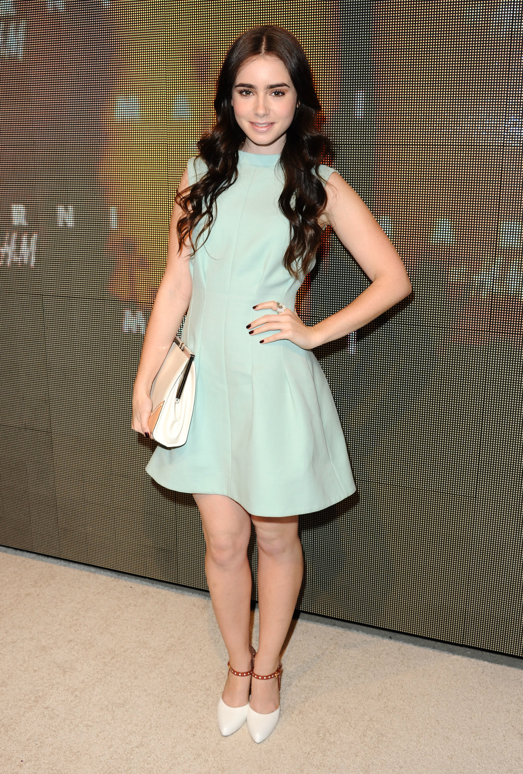 lily collins face of lancome