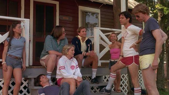 "Monique Moreau, Michael Showalter, Bradley Cooper, Elizabeth Banks, Michael Ian Black, A.D. Miles and Amy Poehler in 2001's ""Wet Hot American Summer."""