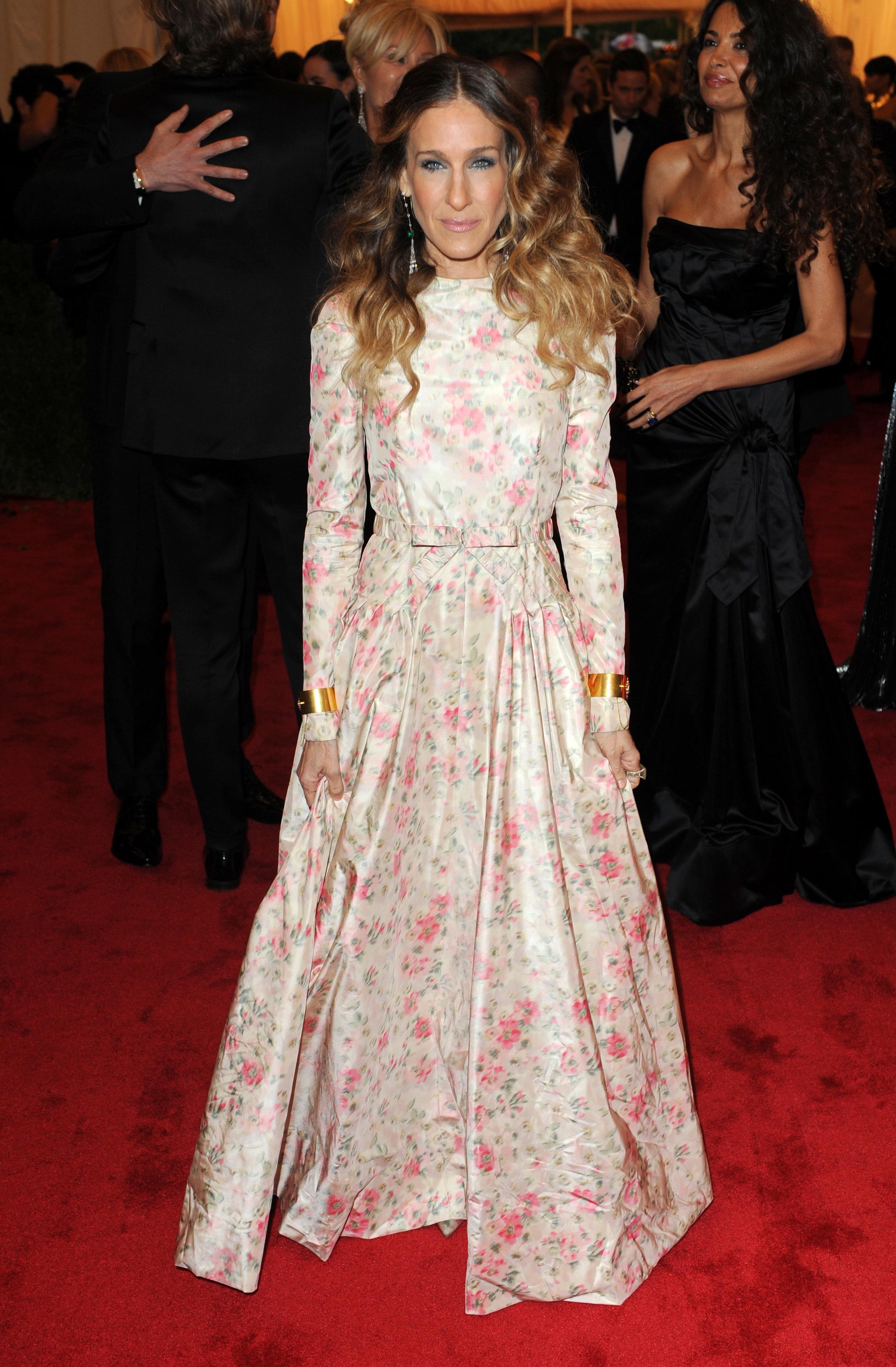 Valentino Floral Dress Sarah Jessica Parker Jessica Alba