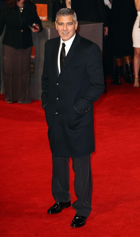 George Clooney black tuxedo red carpet