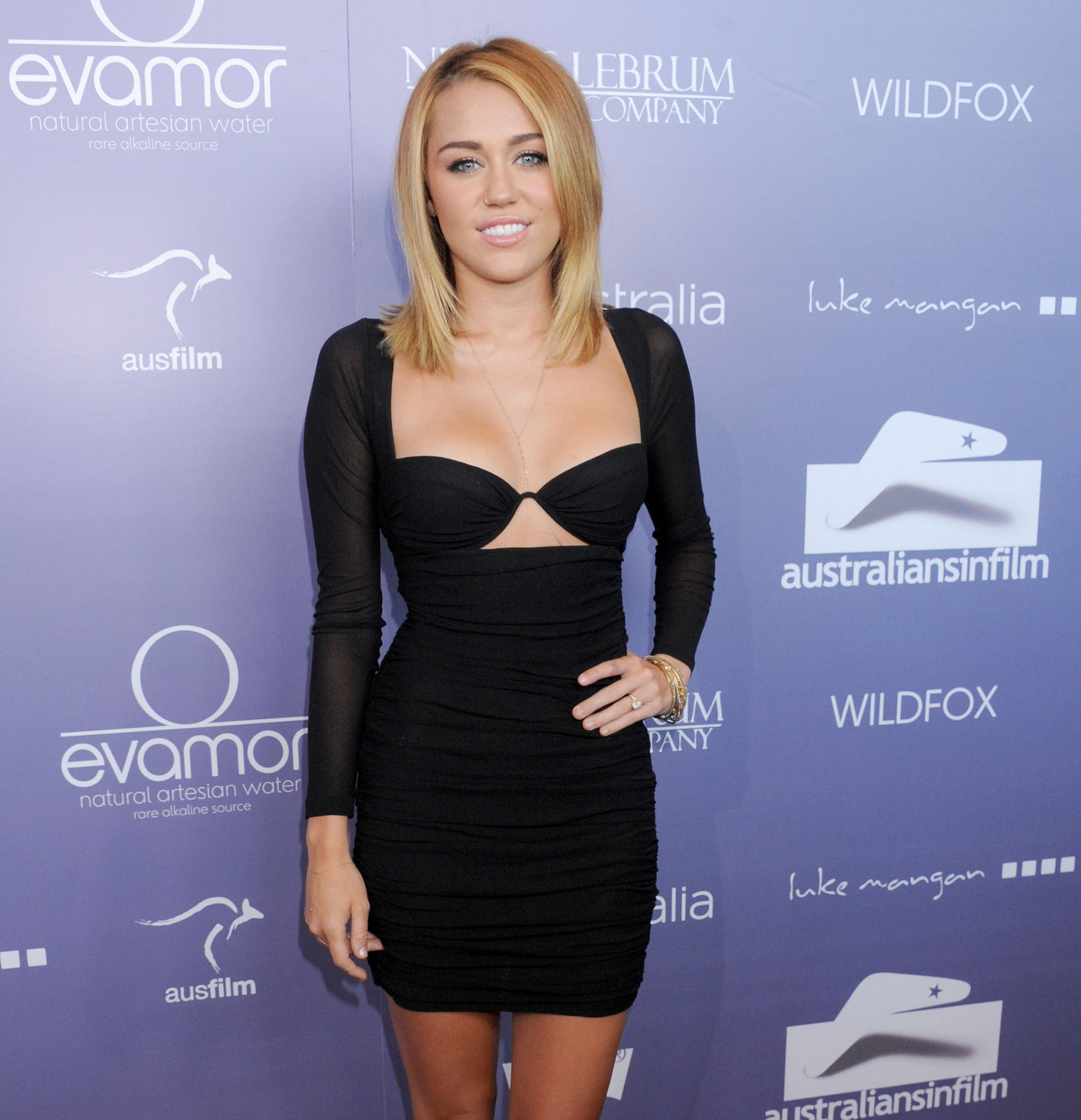 Miley Cyrus fitted dress