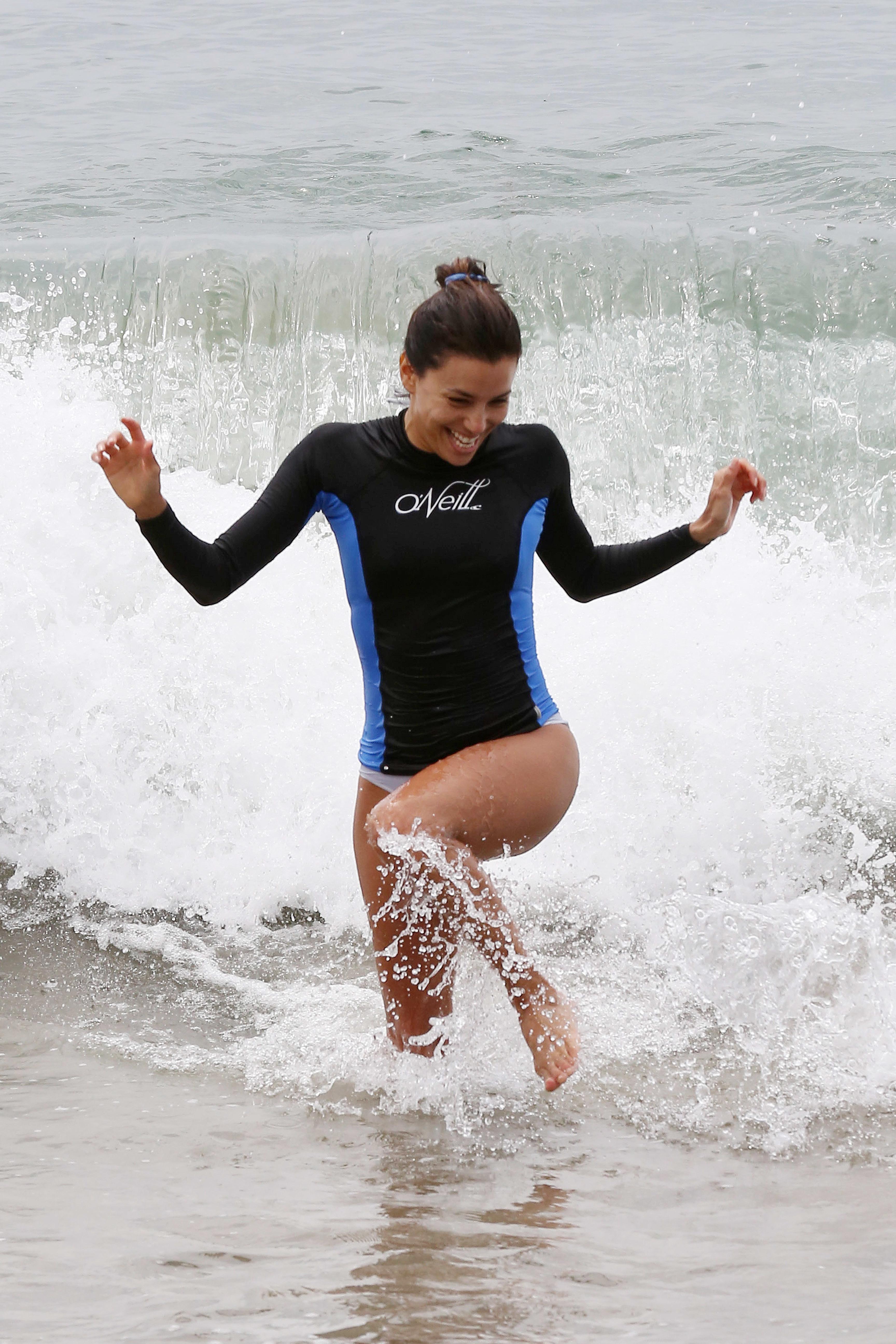 eva longoria bikini rio body beach string suit