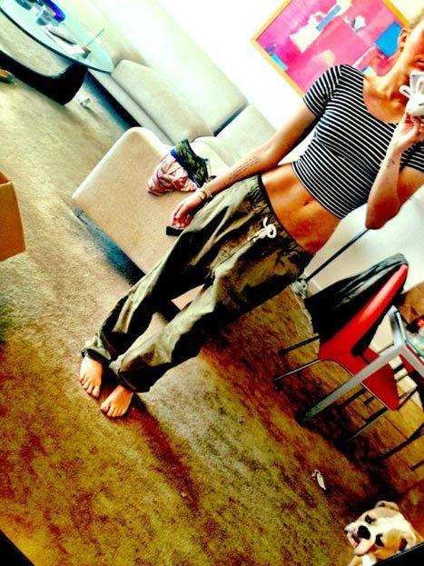 Miley Cyrus waist