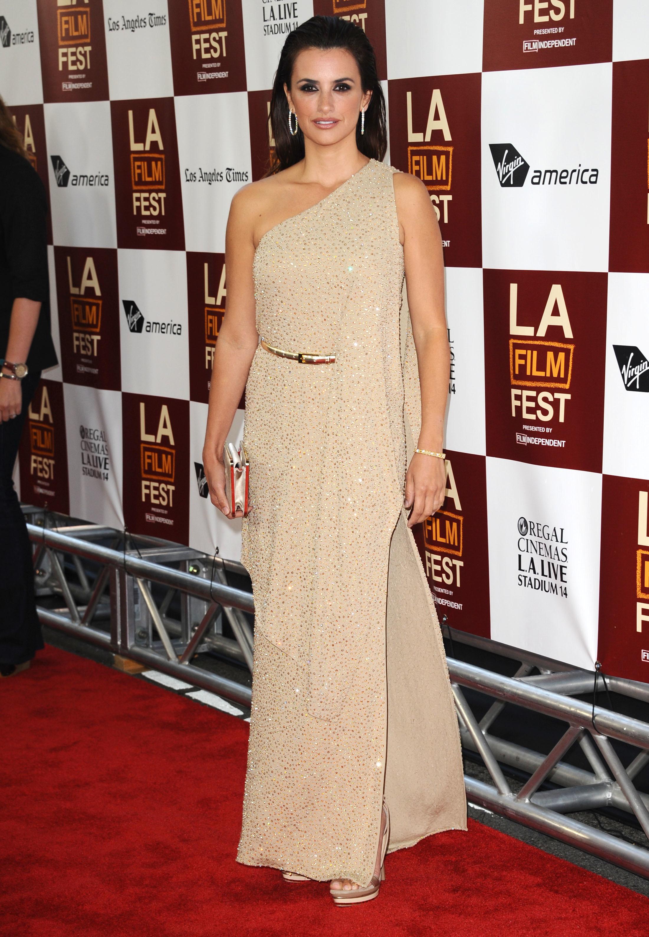 Penelope Cruz glittery dress