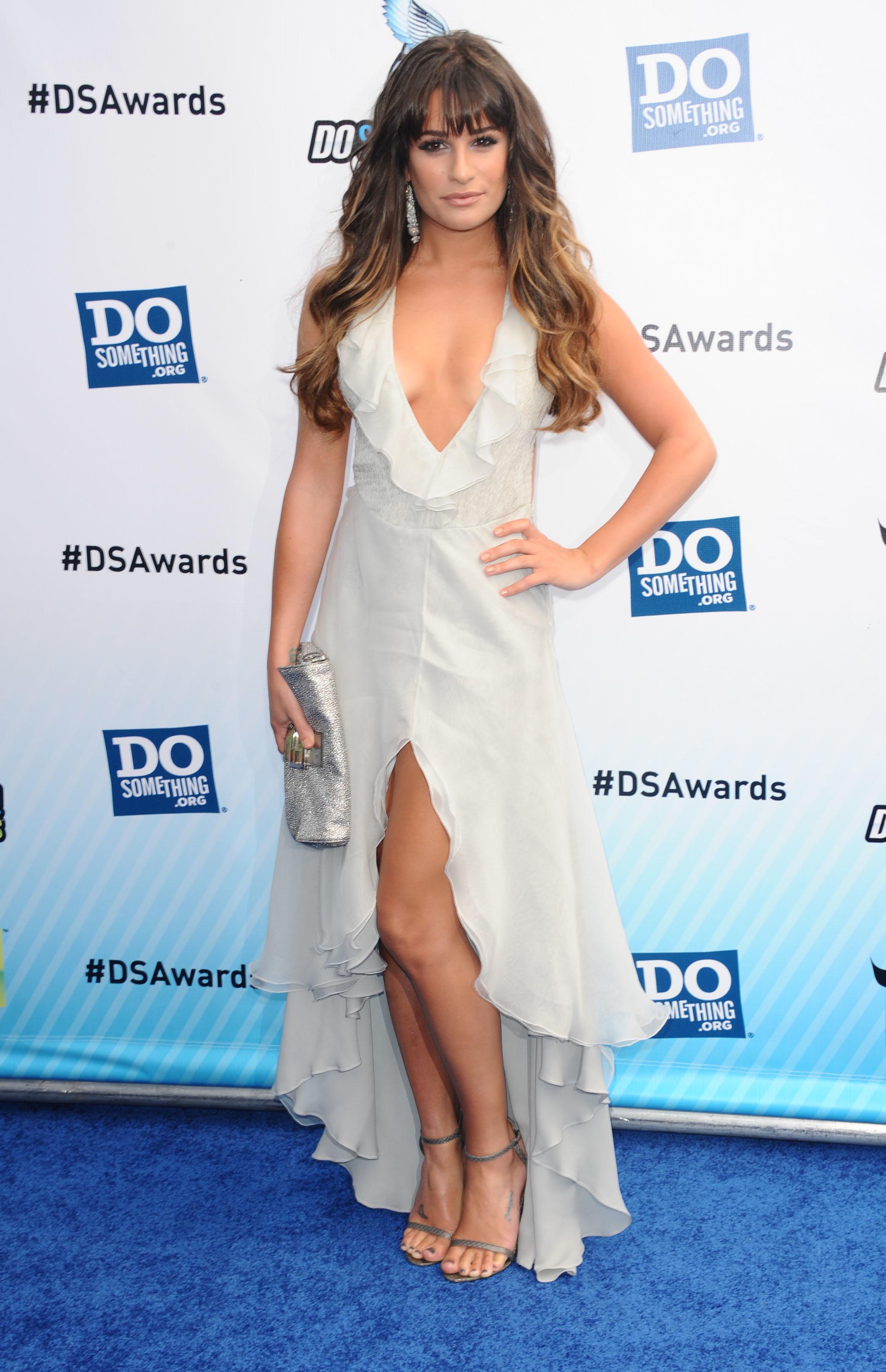 Lea Michele sexy dress