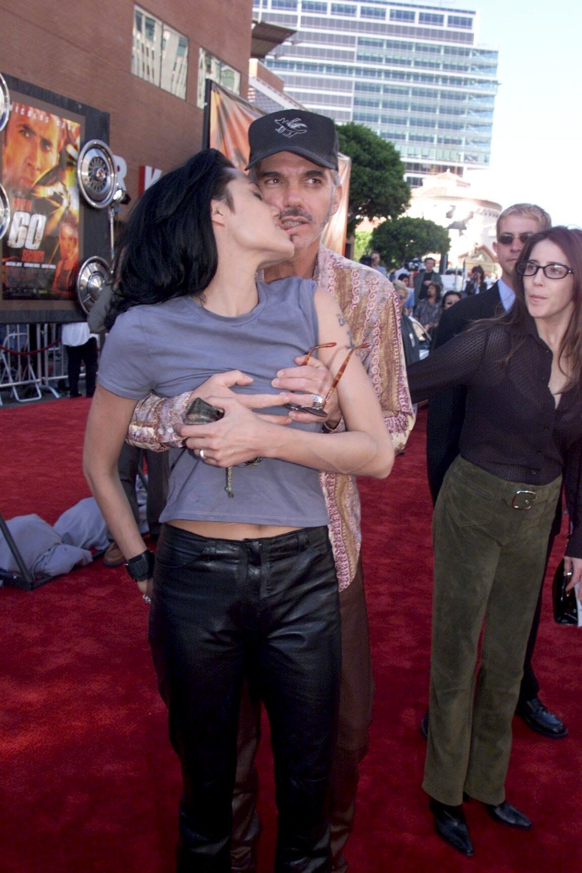 Angelina Jolie Billy Bob Thornton kiss red carpet