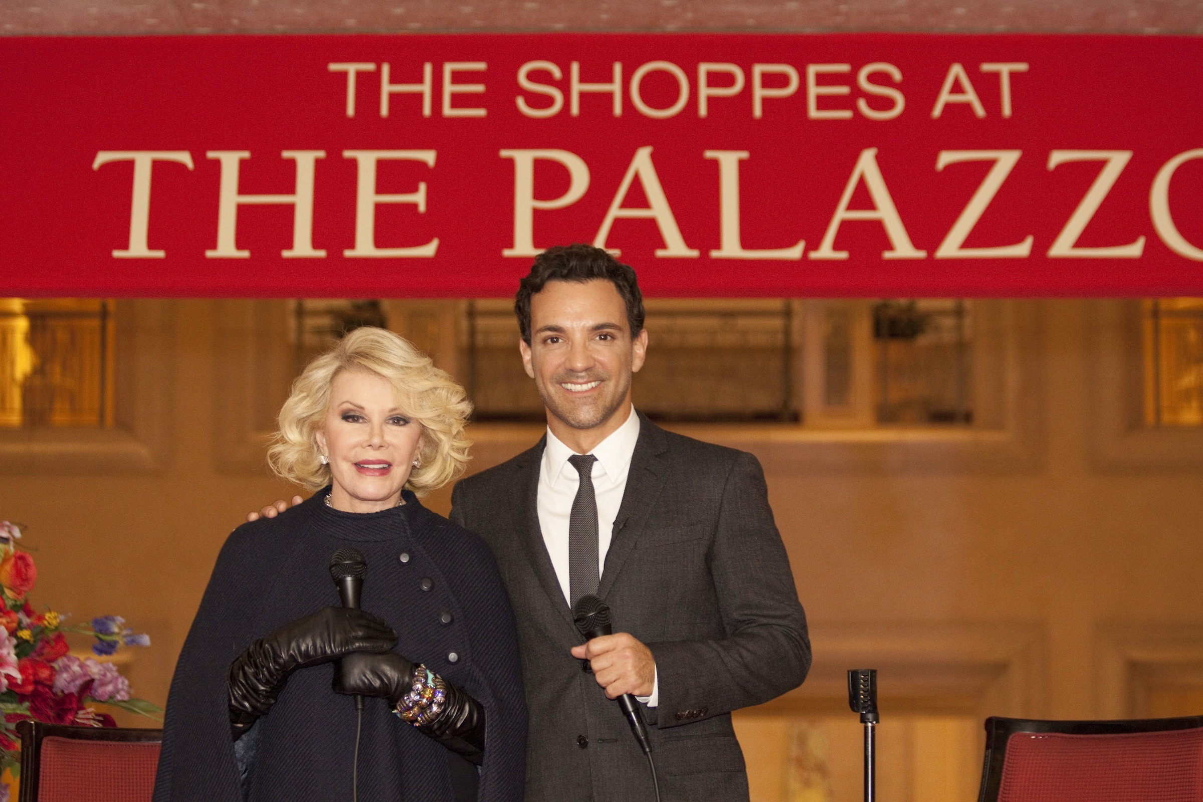 George Kotsiopoulos and Joan Rivers celebrate Fashion's Night Out at The Shoppes at The Palazzo