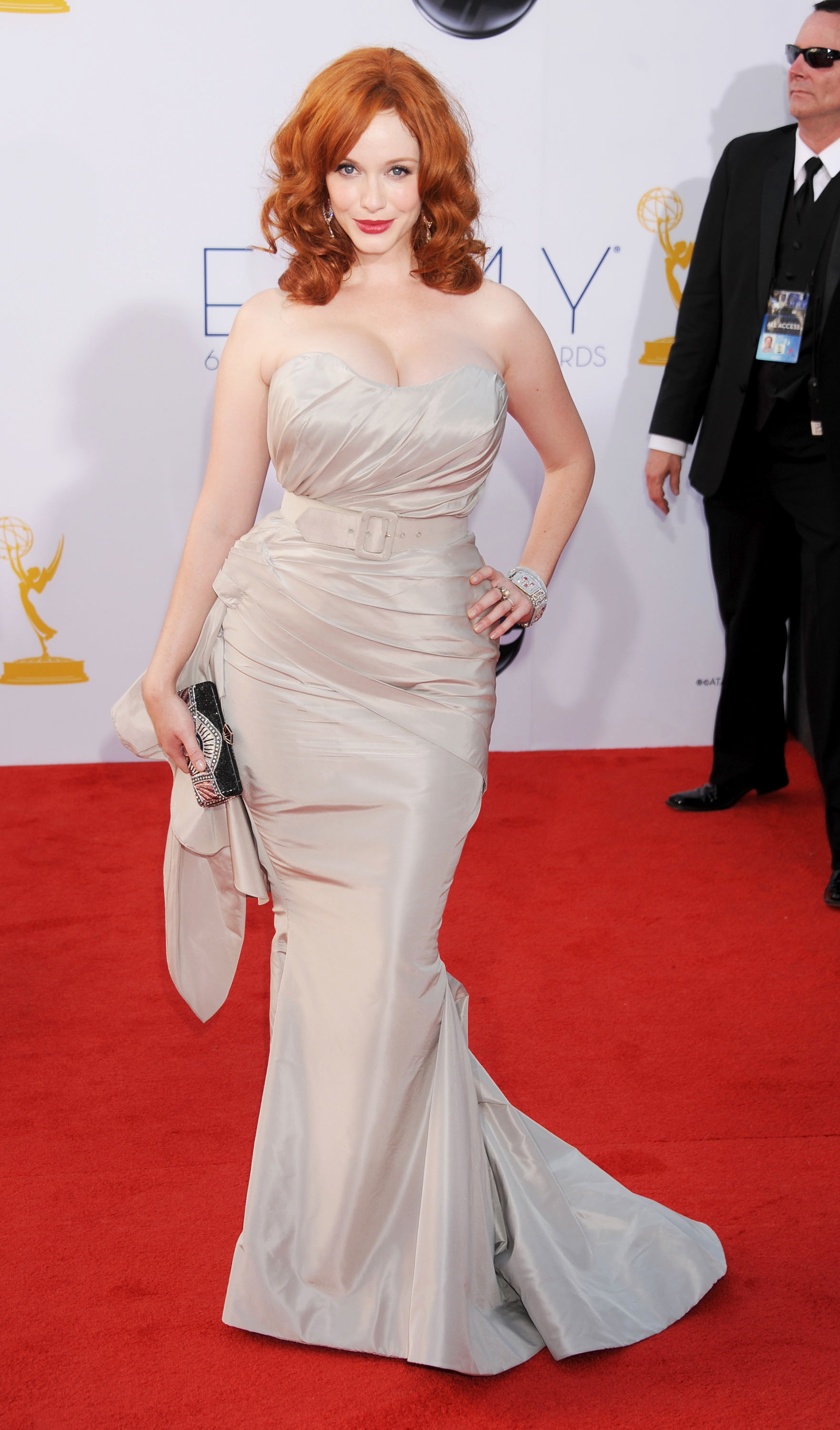 Christina Hendricks Christian Siriano platinum gown