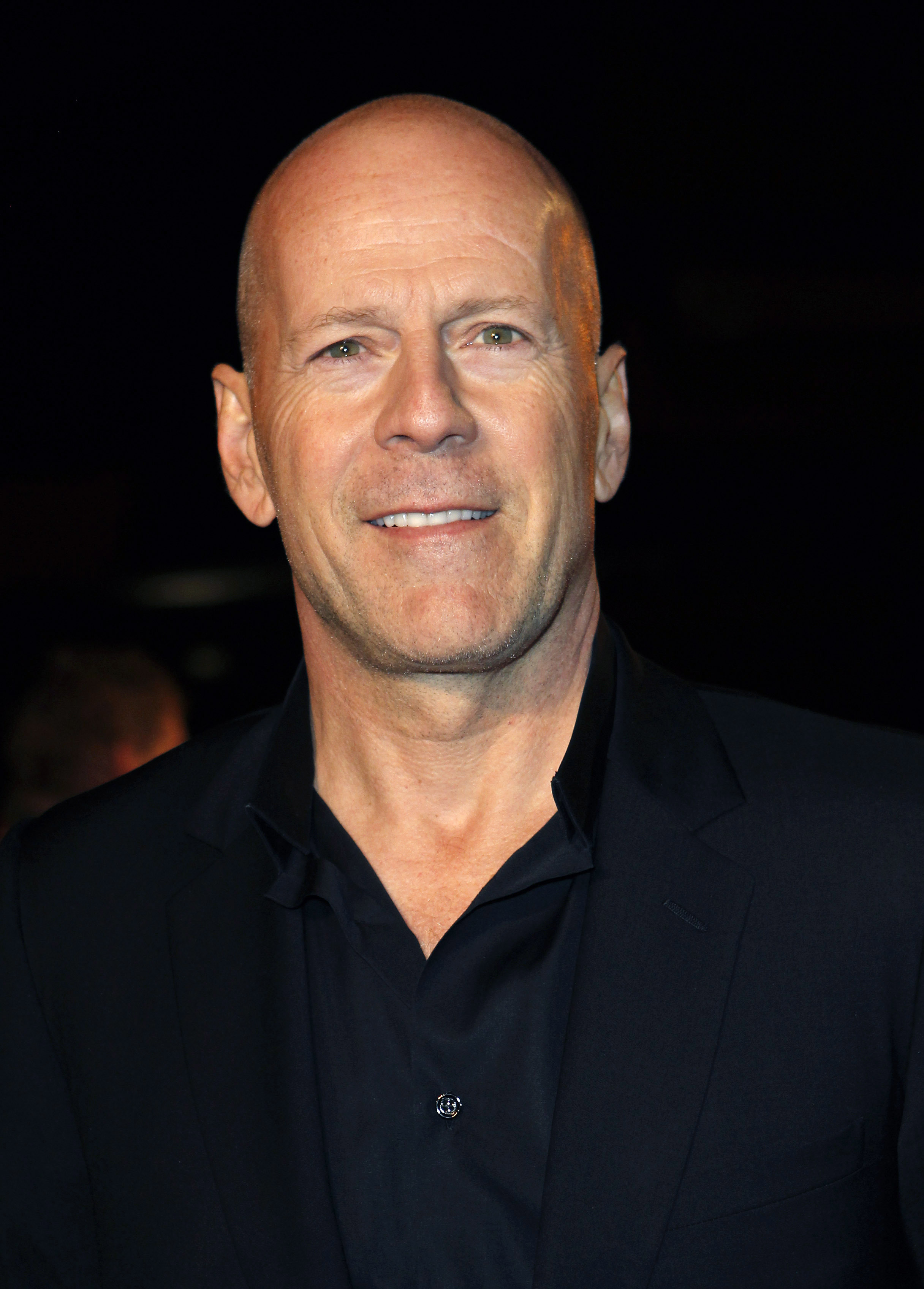 Bruce Willis hair or bald