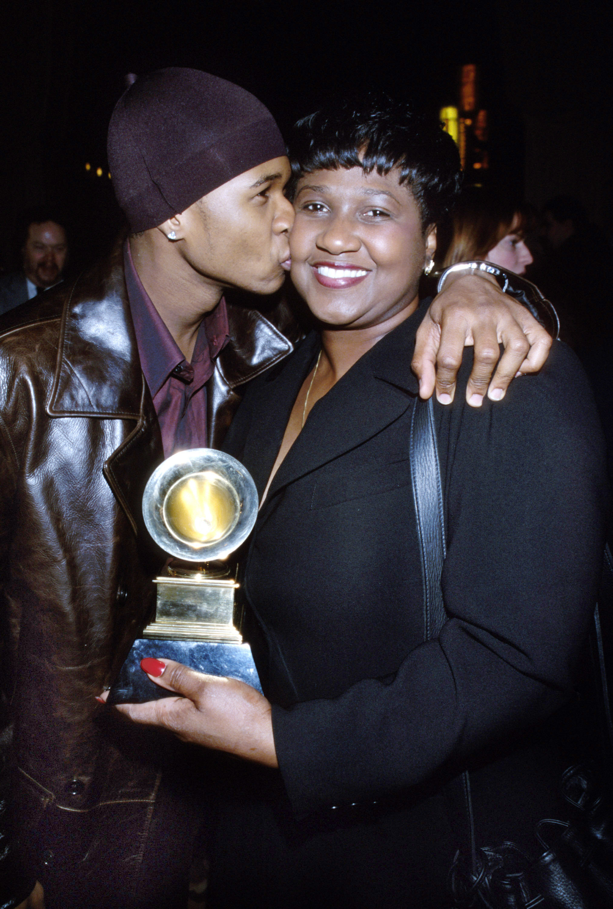 usher and his mom