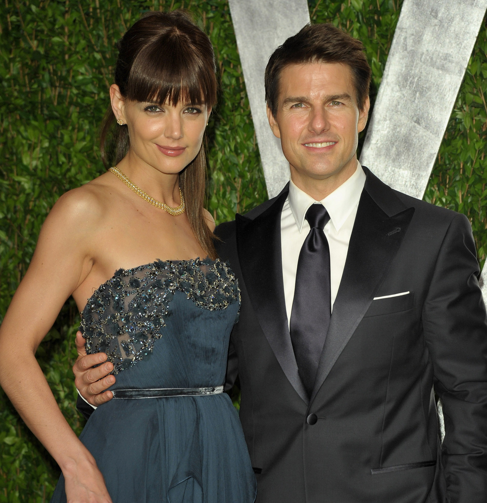 tom cruise katie holmes divorce settlement oscars vanity fair party