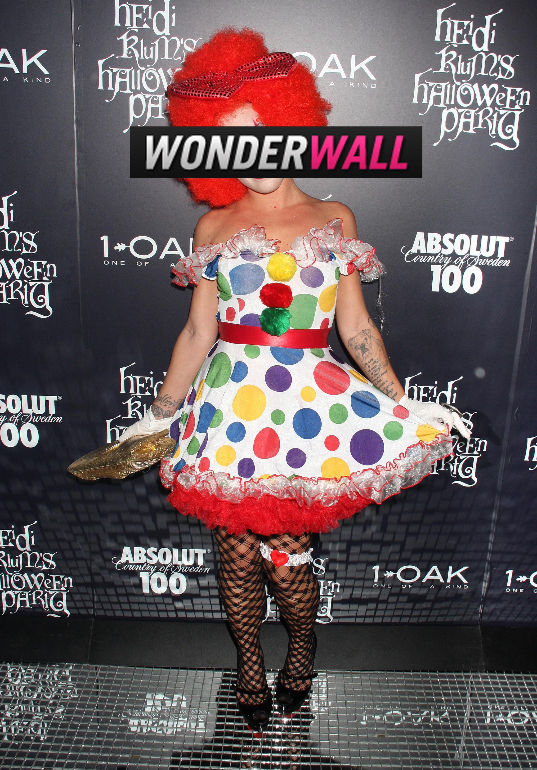 Pink clown halloween costume