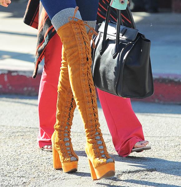 Ashley Tisdale crazy boots