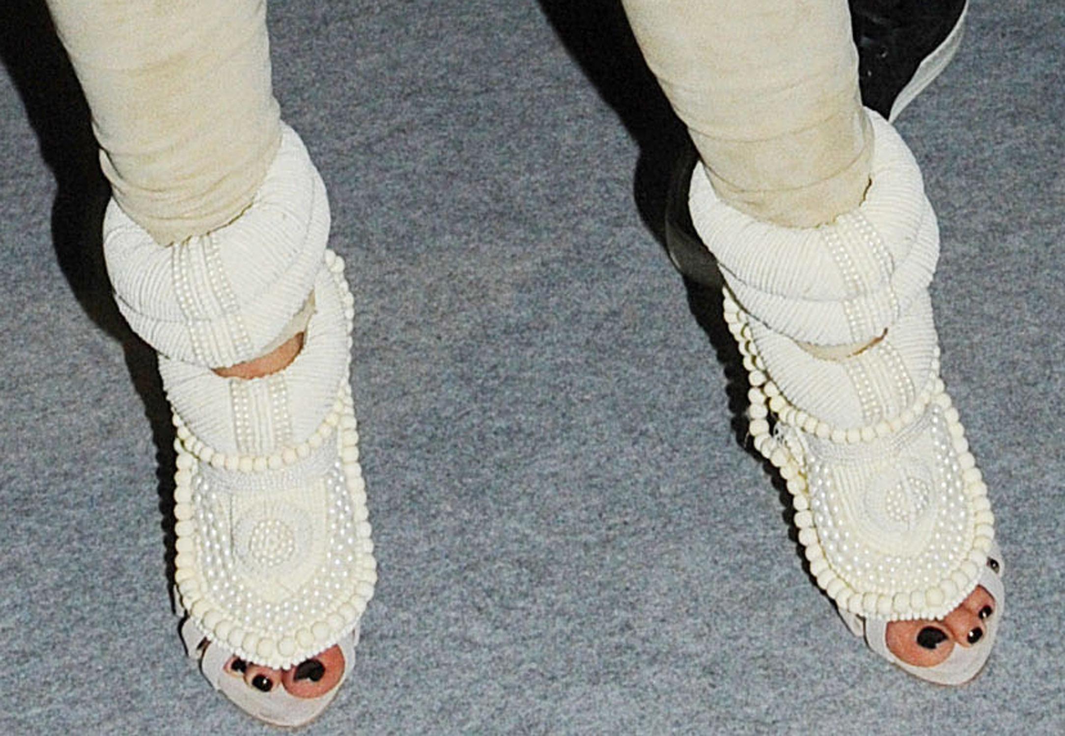 Kim Kardashian crazy boots