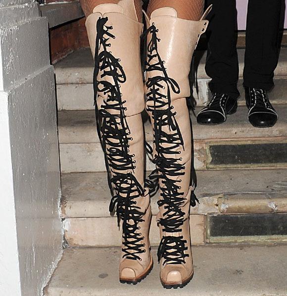 Lady Gaga crazy boots