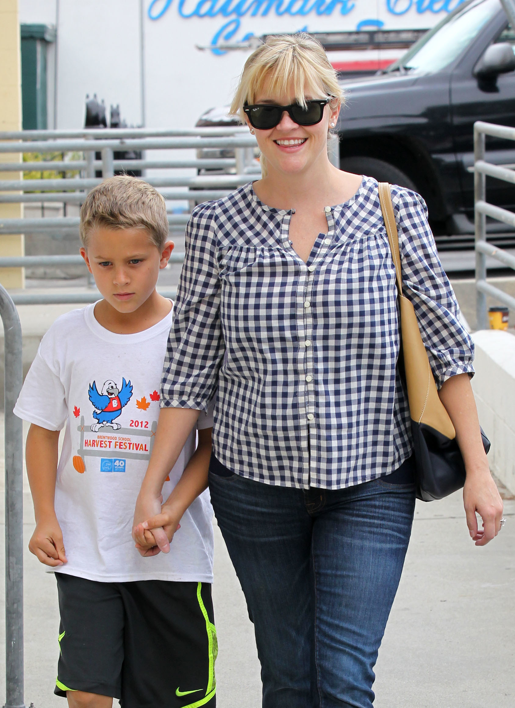 Deacon phillippe Reese witherspoon plaid shirt denim