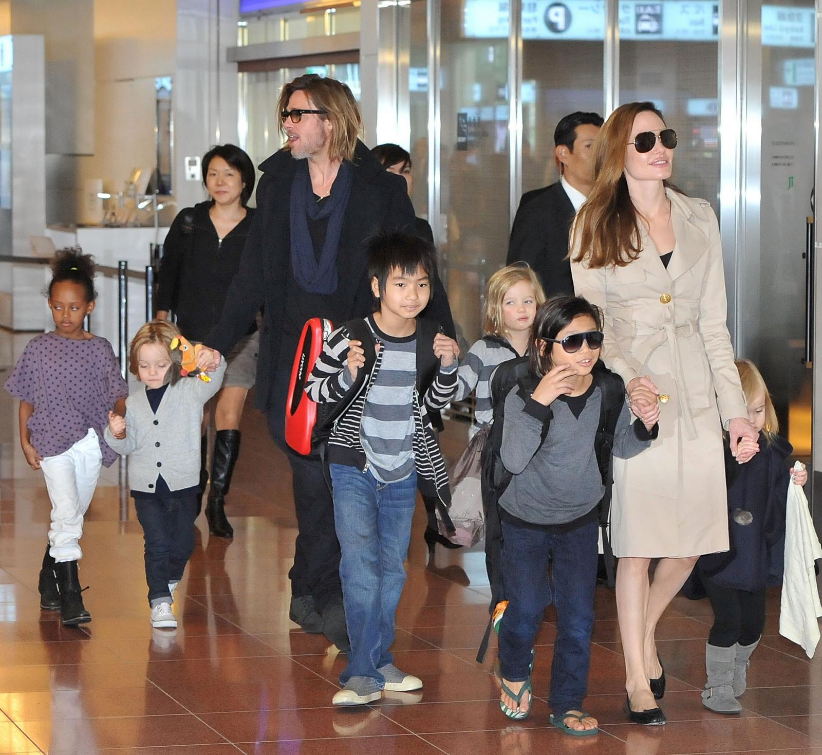 angelina jolie brad pitt kids bowling traveling jealous new movie