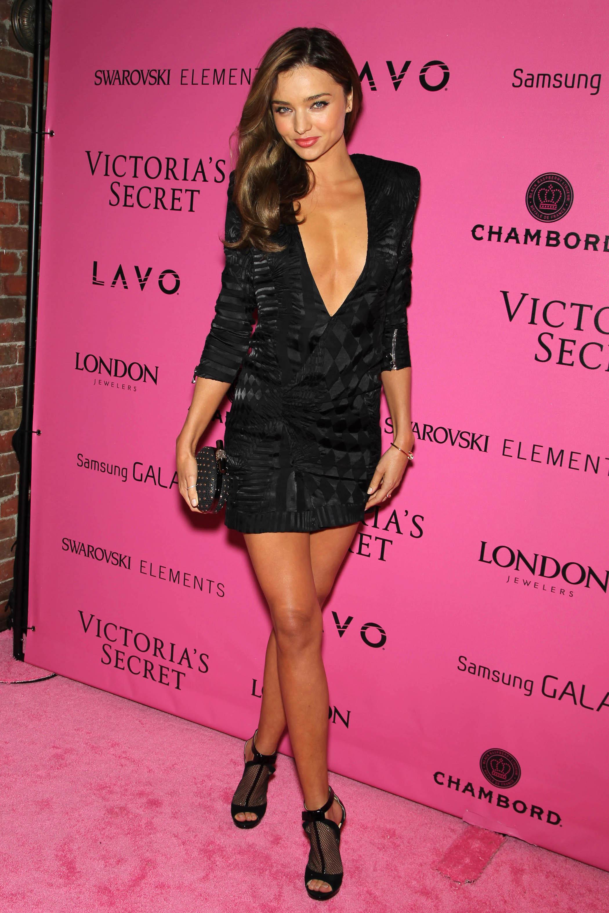 Miranda Kerr Adriana Lima little black dress