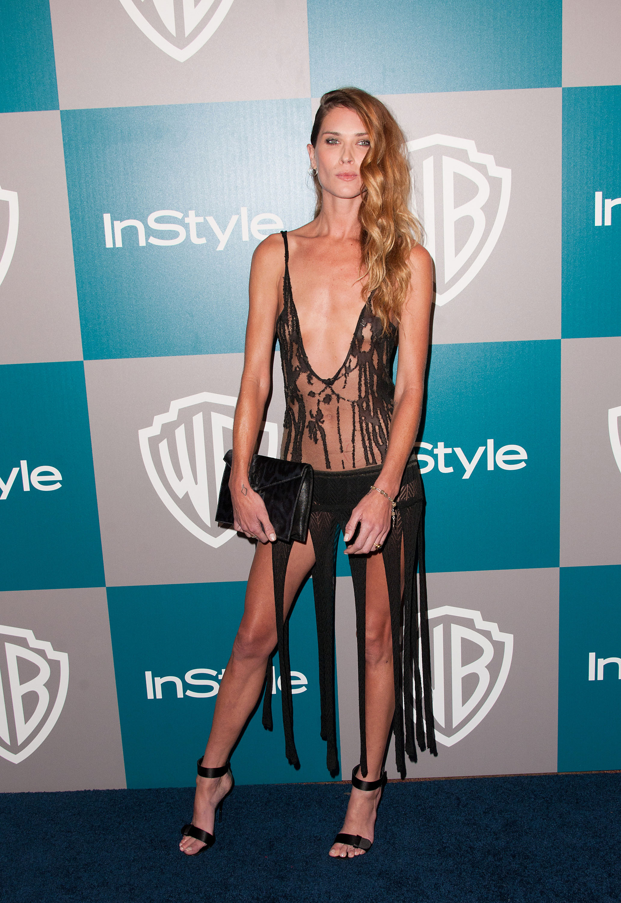 Erin Wasson see through black dress