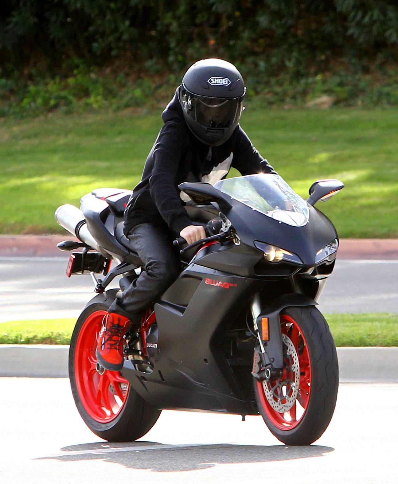 Justin Timberlake Justin Bieber motorcycle fashion