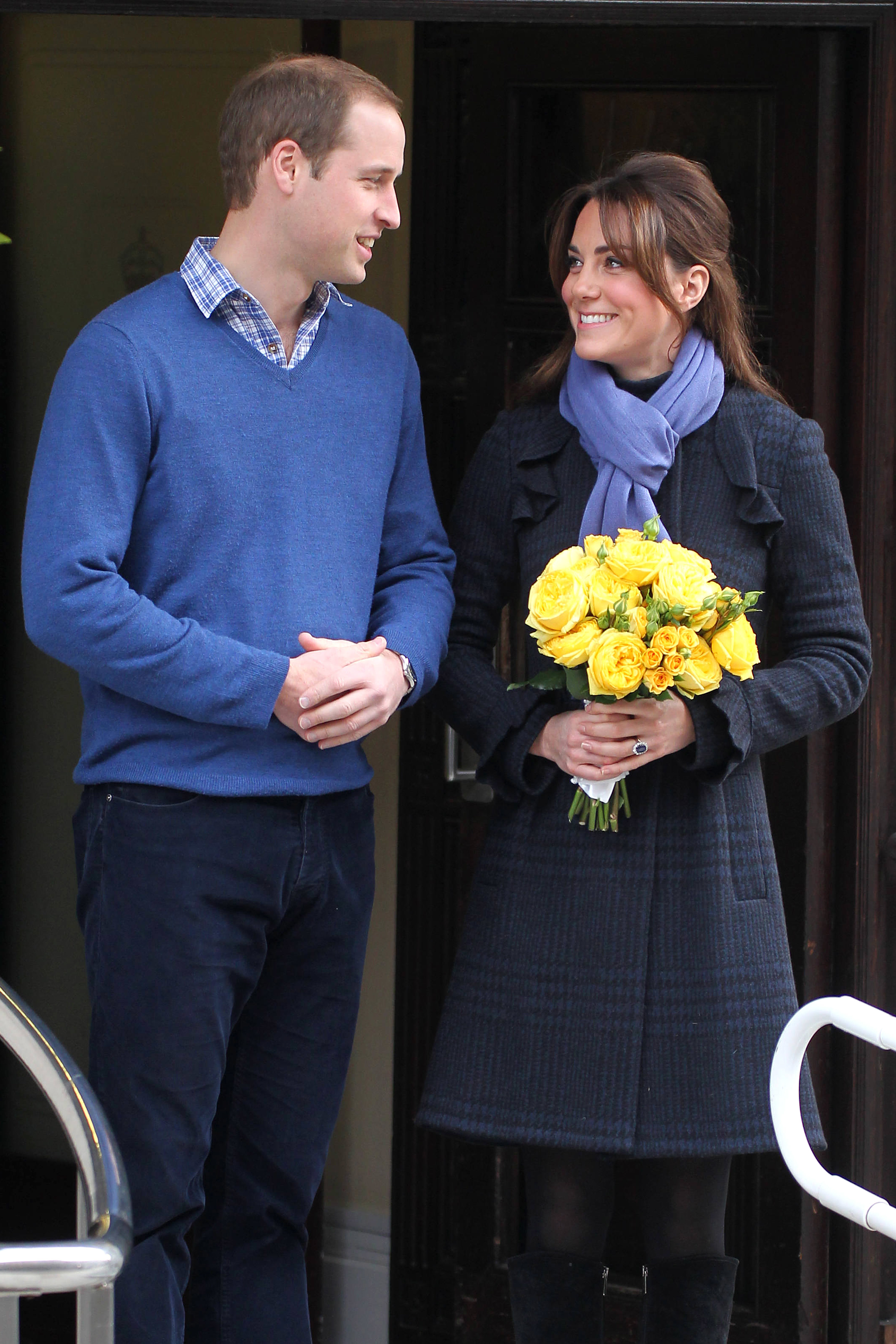 Duchess Kate Prince William hospital exit