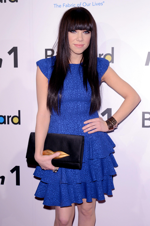 Carly Rae Jepsen blue dress