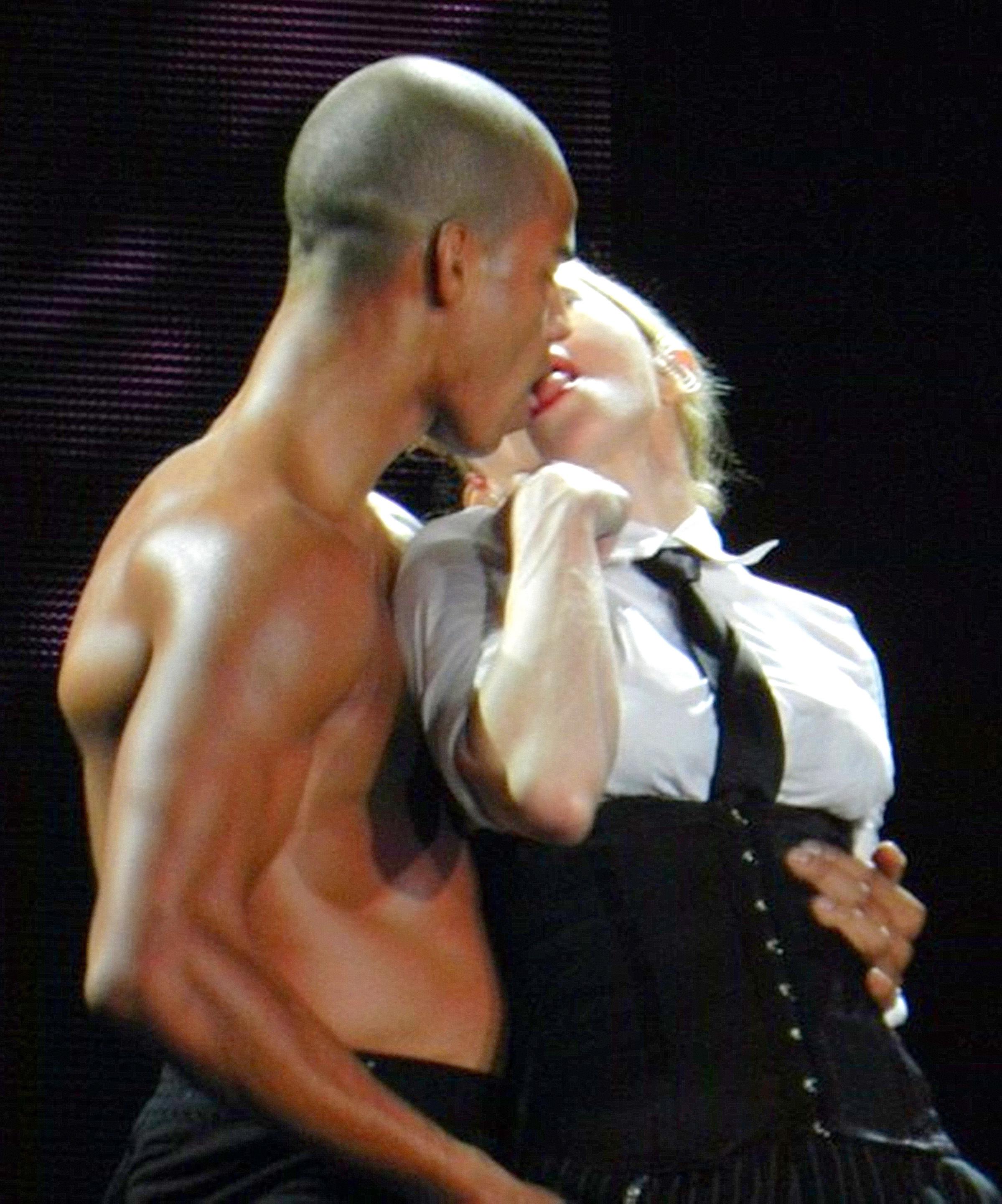 Madonna racy pics Instagram warning kiss explicit