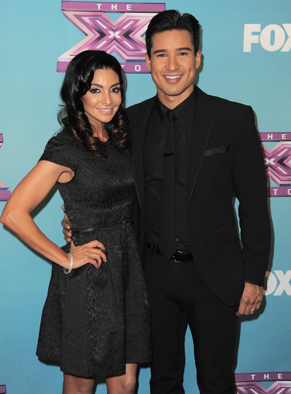 Mario Lopez wife Courtney Mazza red carpet X Factor