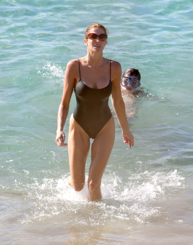 stephanie seymour bathing suit babe bikini body st barths beach