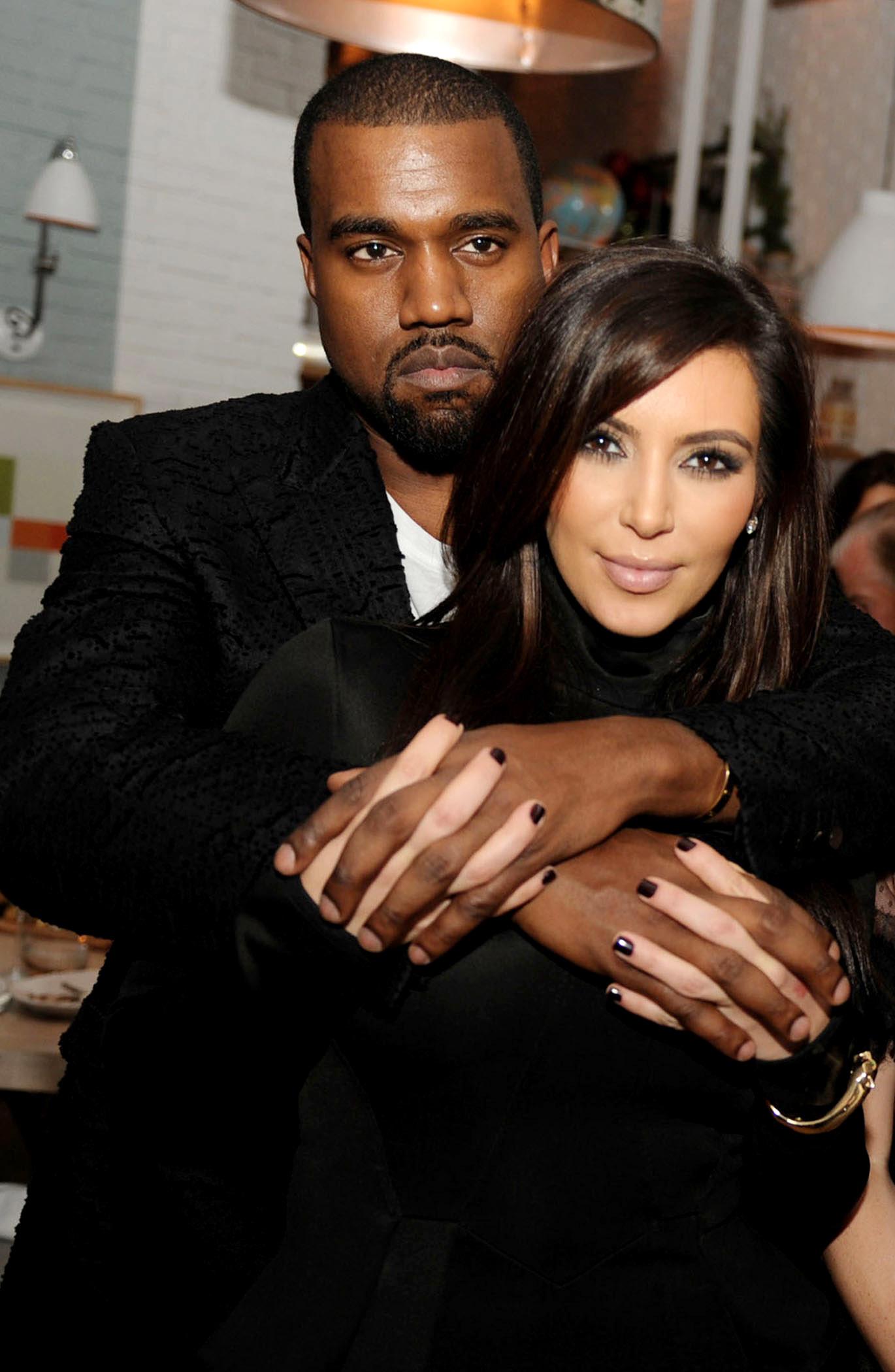 Kim Kardashian kanye west posing