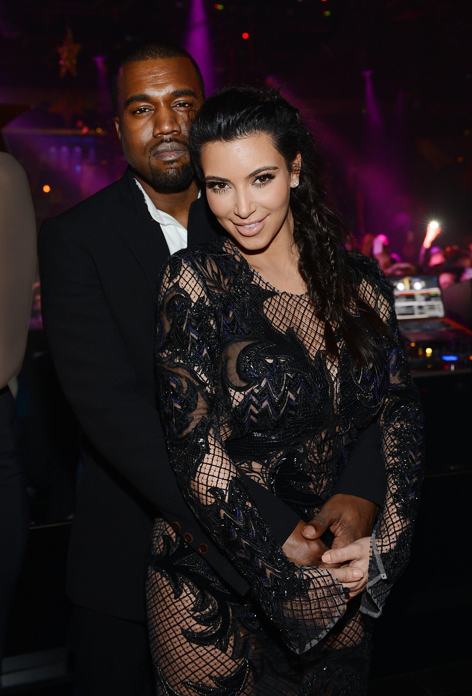 Kim Kardashian Kanye West North