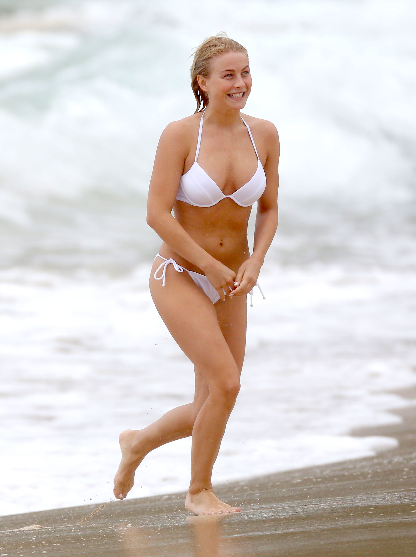 Julianne Hough white bikini