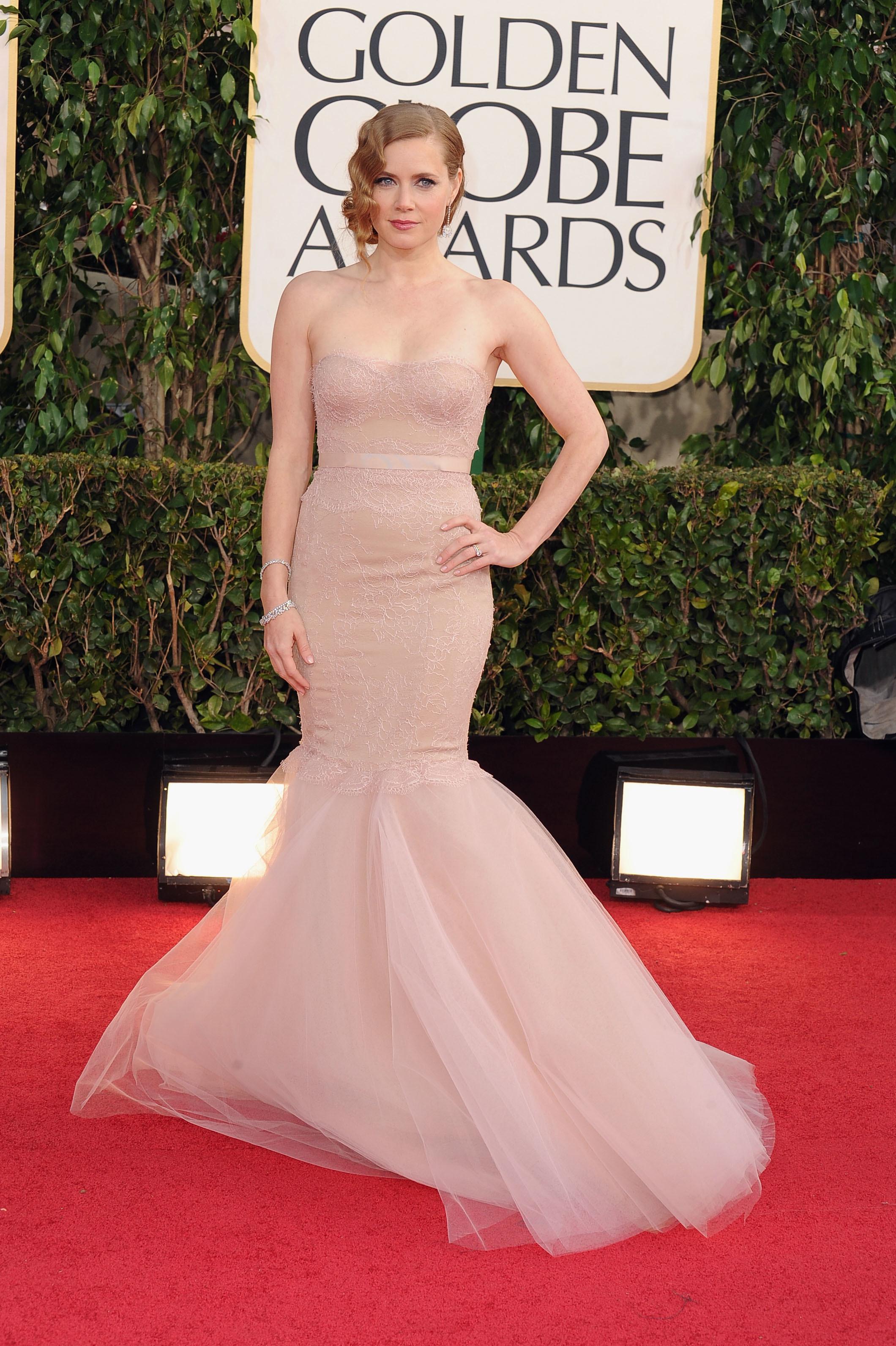 Amy Adams nude dress 2013 Golden Globes